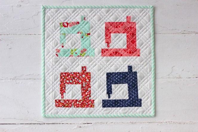 Sew in Love Sewing Machine Mini Quilt